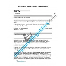 Real Estate Purchase Contract (Farm and Ranch)